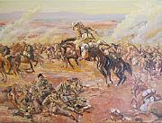 Ww1 Paintings - Beersheba after George Lambert by Leonie Bell