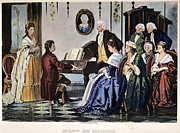 Mozart Framed Prints - Beethoven & Mozart, 1787 Framed Print by Granger