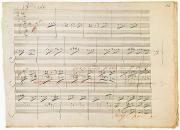 1806 Prints - Beethoven Manuscript, 1806 Print by Granger