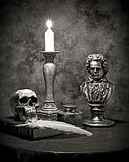 Candlestick Prints - Beethoven Still Life Print by Tom Mc Nemar