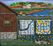 New England Village Prints - Before Now Print by Anne Klar