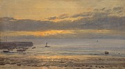 Harbor Paintings - Before Sunrise by Henry Moore