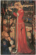 Knights Paintings - Before the Battle by Dante Gabriel Rossetti