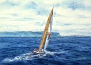 Sailing Paintings - Before The Big Race by John YATO