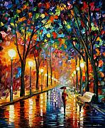 Oil Metal Prints - Before The Celebration Metal Print by Leonid Afremov