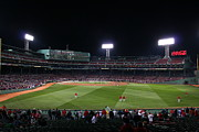 Red Sox Metal Prints - Before the Game Metal Print by Stephen Melcher