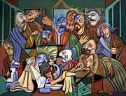 Bible Mixed Media Framed Prints - Before The Last Supper Framed Print by Anthony Falbo