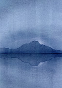 Island Art Pastels Prints - Before the Moonrise Print by Hakon Soreide