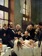 Table Paintings - Before the Operation by Henri Gervex