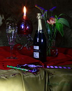 Oil Lamp Photos - Before the Party Begins by Frank Schmidt