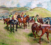 Horseracing Prints - Before the Race Print by Edgar Degas