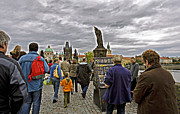Charles River Art - Before The Rain On The Charles Bridge by Madeline Ellis