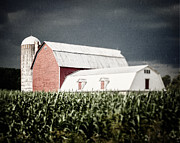 Farming Barns Photo Framed Prints - Before the Storm Framed Print by Lisa Russo