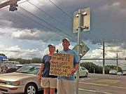 Homeless Photos - Begging in Boca A Sign of Our Times by Michael Dubiner