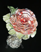 Floral Ceramics Metal Prints - Beginning Metal Print by Afrodita Ellerman