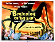 Classic Sf Posters Framed Prints - Beginning Of The End, The, Peter Framed Print by Everett