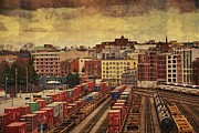 Train Digital Art Originals - Behind Gas Town by Julius Reque