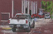 Truck Pastels Prints - Behind Jacks Print by Donald Maier