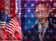 Barack Obama Mixed Media Acrylic Prints - Behind the Dream Acrylic Print by Fania Simon