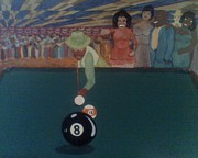 Big Band Painting Originals - Behind the Eight Ball by Mahceli DSeghe