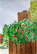 Chimney Art - Behind The Fence Sketchbook Project Down My Street by Irina Sztukowski