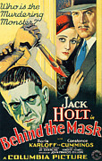 Horror Movies Posters - Behind The Mask, Boris Karloff Poster by Everett