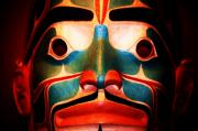 Tlingit Posters - Behind the Mask Poster by Helen Carson