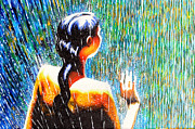 Behind The Rain Print by Jose Miguel Barrionuevo
