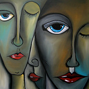 Faces Paintings - Behind The Scenes - Abstract Pop Art by Fidostudio by Tom Fedro - Fidostudio