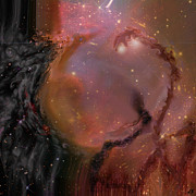 Galaxies Digital Art - Behind The Universe by Linda Sannuti