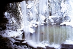 Icicles Photos - Behind the Veil by Thomas R Fletcher