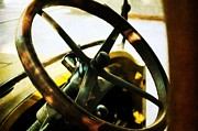 Art Museum Prints - Behind the wheel Print by Cathie Tyler