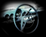 Dash-board Framed Prints - Behind the wheel Framed Print by Perry Webster
