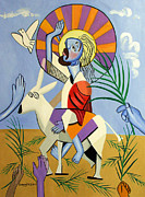 Cubist Posters - Behold The Lamb Of God Poster by Anthony Falbo