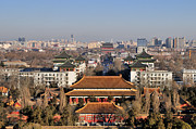 Exterior Framed Prints - Beijing Central Axis Skyline, China Framed Print by Huang Xin