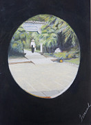 Beijing Paintings - Beijing Garden by Albert Ferrand