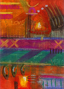 Divine Wisdom Paintings - Being In Love by Angela L Walker