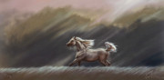 Equine Art Pastels Framed Prints - Being Framed Print by Kim McElroy
