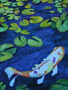 Stein Paintings - Being Koi by Carla Stein