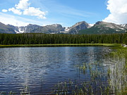 Rocky Mountain National Park Posters Prints - Beirstadt Lake  Print by Debbie Poetsch