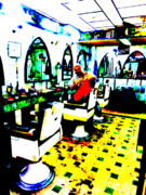 Lebanon Prints - Beirut Barber shop  Print by Funkpix Photo  Hunter