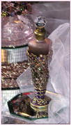 Bejeweled Posters - Bejeweled Perfume Bottle Poster by Chris Anderson