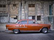 Car Photographs Art - Bel Air Chevrolet - Havana Cuba by Artecco Fine Art Photography - Photograph by Nadja Drieling