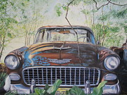 Steering Painting Posters - Bel Air Poster by Daniel W Green