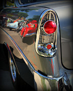Roadster Grill Posters - Bel Air Details Poster by Perry Webster