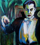 Horror Movies Paintings - Bela by Les Leffingwell