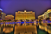 Nba Digital Art Framed Prints - Belagio Las Vegas Framed Print by Nicholas  Grunas