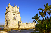 Medieval Framed Prints - Belem Tower Framed Print by Carlos Caetano