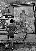 Sports Tapestries Textiles Originals - Belfast Boy In Memory Of George Best  by Donovan Torres
