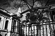 Belfast Coat Of Arms On Gates Of The City Hall Northern Ireland Uk Print by Joe Fox